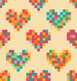 pixel heart pattern vector image vector image