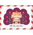 radio with speakers to music festival celebration vector image