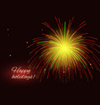 red yellow fireworks copy space vector image vector image