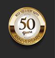 retro vintage style anniversary golden design 50 vector image vector image
