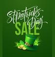 saint patricks day sale poster lettering banner vector image vector image