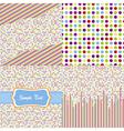 seamless pattern - polka dots set vector image vector image