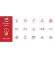 secure icons vector image vector image