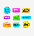 set icons best quality excellent product vector image vector image