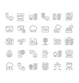 set line icons internet technology vector image