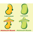set of beans and mexican beans vector image vector image