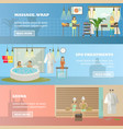 set of spa therapy concept horizontal vector image