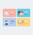 set web design templates vector image