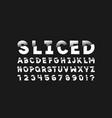 sliced font alphabet vector image