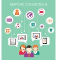 Social network connection concept vector image vector image