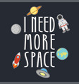 space t-shirt vector image