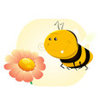 spring bee vector image