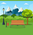 summer spring day park vector image