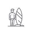 surfer line icon concept surfer linear vector image