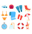 swimming equipment icon cartoon style vector image