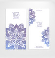templates of banners with watercolor blue vector image vector image