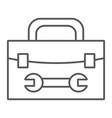 tool box thin line icon repair and maintenance vector image vector image