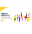 tour guide website landing page design vector image