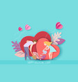 valentines day card with couple in love vector image vector image