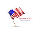 veterans day flag usa vector image