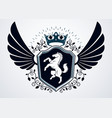vintage heraldry design template emblem created vector image vector image