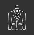 wedding tuxedo chalk icon vector image