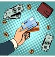 Bank card business discounts money finance sale vector image