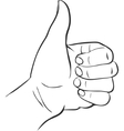 thumb up hand vector image