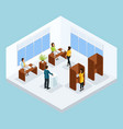 isometric voting process concept vector image