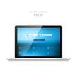 Realistic detalized flat laptop vector image