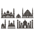Islamic mosque silhouette set vector image
