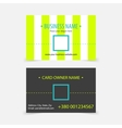 Abstract light green stripes business cards vector image vector image