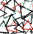 Abstract seamless pattern with grunge triangles vector image