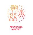 abundance mindset concept icon