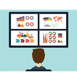 analysis information on dashboard vector image vector image