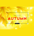 autumn poster with lettering and yellow autumn vector image vector image