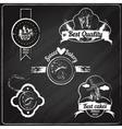 bakery emblems chalkboard vector image vector image