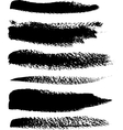 Black brush strokes set vector image