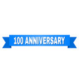 blue stripe with 100 anniversary title vector image