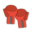 boxing gloves sports related icon image vector image vector image