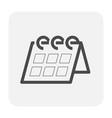 calendar icon black vector image