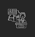campaign trail chalk white icon on black vector image