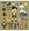 Camping and hiking set vector image vector image