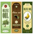 cartoon olive oil labels set vector image vector image