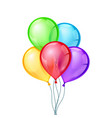 Celebratory balloons on isolated vector image vector image