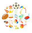children event icons set cartoon style vector image