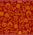 chinese horoscope signs seamless pattern vector image vector image