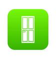 closed wooden door icon digital green vector image