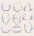 collection geometric floral frames vector image vector image