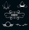 collection white decorative border frames vector image vector image